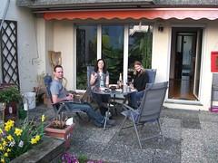 Eddi, Bettina und Helga in Remseck