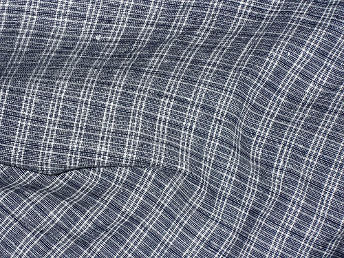 Indigo Plaid Linen