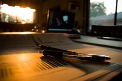 Sunset (Khandhar) Tags: sunset home dof naturallight australia indoors studytable melbourme dinningtable