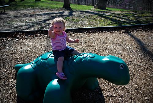 Emmy Riding Dino