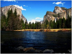 Yosemite National Park, Merced River View, California's Best (moonjazz) Tags: california wild sky usa west nature river wonder landscape waterfall spring perfect natural hiking glory merced cliffs best american valley yosemite serenity granite geography geology wilderness sierras bridalveil elcapitan sierranevada highsierras pure finest conservationspring