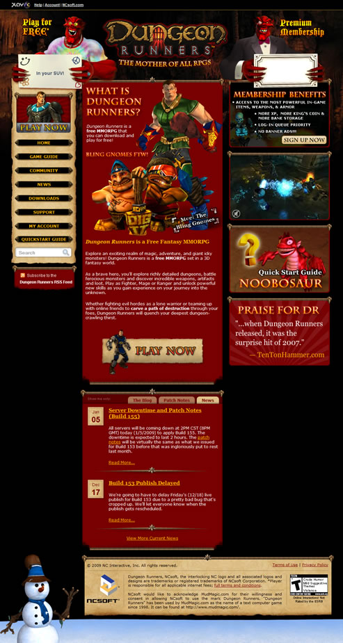 Dungeon Runners Home Page