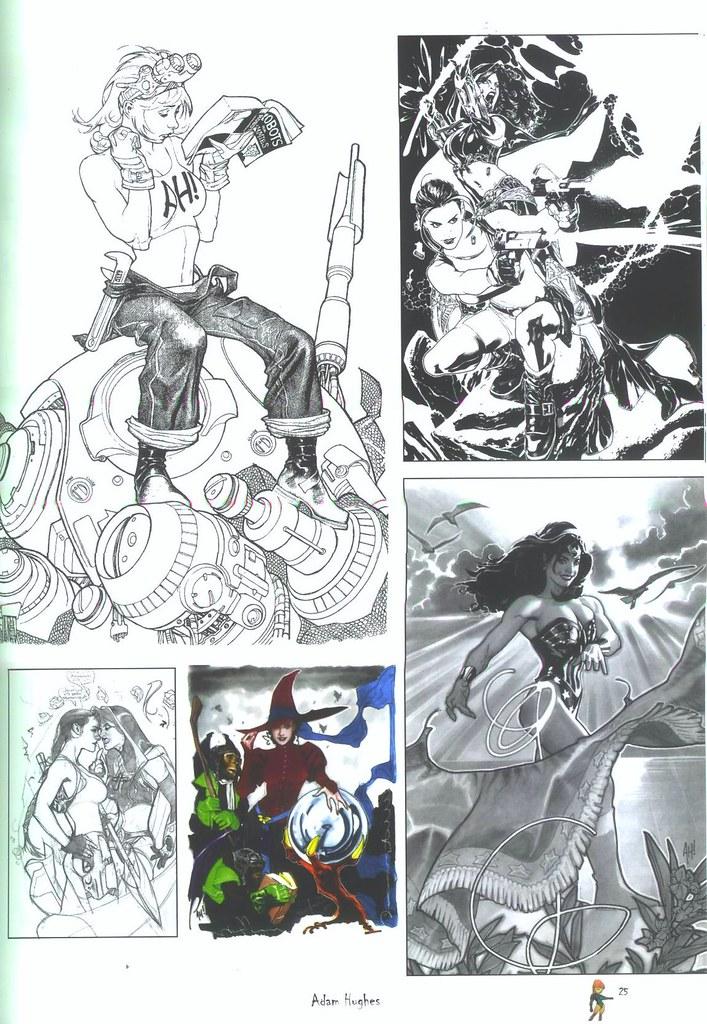 pagina 25 Adam Hughes artbook (art book ediciones)