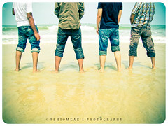 Happy Days! :) (abhiomkar) Tags: friends india beach fun funtime pals guys enjoy pissing karnataka happydays goodtimes malpe manipal udipi gooddays malpebeach notpissing