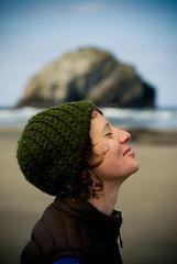 Face Rock (c.bro) Tags: california girl face rock oregon oakland sara pentax profile bandon pentaxk10d ebphotography