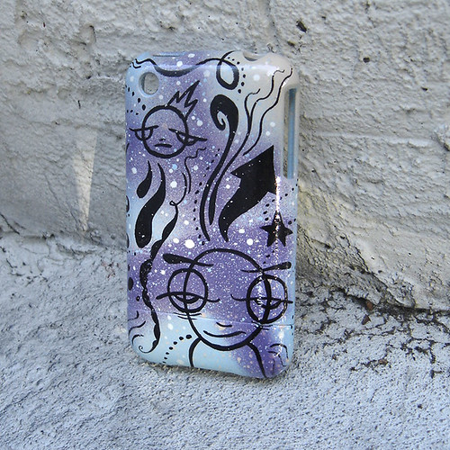 handpainted cell phone case