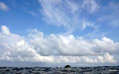 Similan Sky and Sea, Thailand (_takau99) Tags: ocean trip travel blue sea vacation sky cloud holiday nature water clouds lumix islands boat asia ship indianocean may bluesky panasonic thai 2009 similan andaman andamansea similanislands takau99 edive dmcfx30 sharkfinreef similan3 イーダイブ