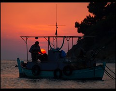 When the day is done, being in a boat has to be one of the best places to be (maios) Tags: travel sunset sea sun water greek boat photo europa europe flickr mediterranean photographer hellas greece macedonia fisher thessaloniki fotografia salonica thermaikos manikis maios iosif   heliography               iosifmanikis