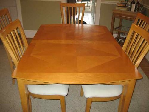 SOLD!!! -> MODERN WOOD DINING TABLE -> PRICE $ 250.00 (OBO) (PIC 3)
