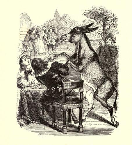 017- El asono y el perrito-Fabulas La Fontaine-J.Grandville
