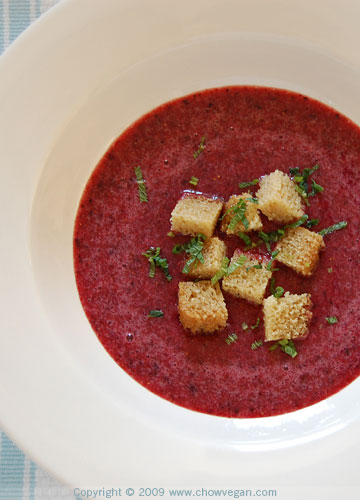 Berry Soup With Cake Croutons