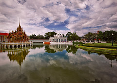 ~ Reflection Of The Sky ~ (Peem (pattpoom)) Tags: reflection architecture landscape thailand reflexions ayutthaya bangpain blueribbonwinner mywinners   theunforgettablepictures nikkor1224mmf4gedifafs