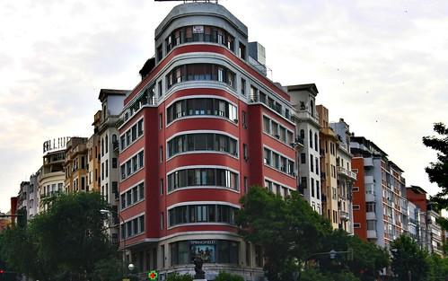Edificio Castaño en estilo Art-Decó de 1930. Calles Goya y Alcalá