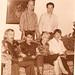 Leon Jaime, Fabio Madrigal, Luigui Cavalieri, Adriana, la Abuela Consuelo y Jaime Madrigal