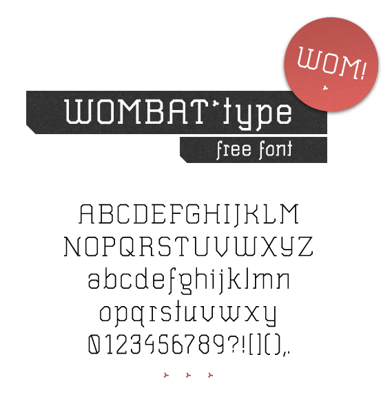 wombat light - free font download