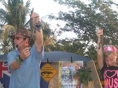Mindil Market - wildlife show 4 (brendanooo) Tags: food wildlife mindilbeach 2709 mindilmarket