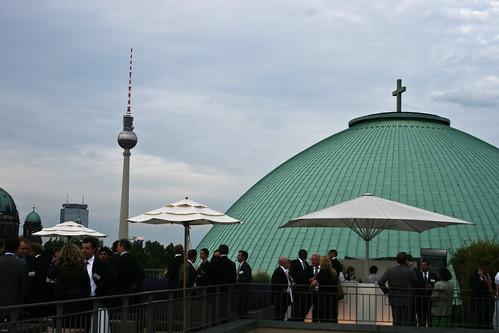 En la terraza del hotel Roma en Berlin