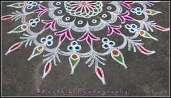 / An Indian art form ( / Karthikz) Tags: texture colors amma kolam rangoli d40 thindivanam rangoliiscalledassandart