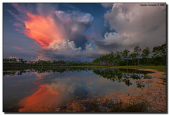 PINK! Storm Cloud (Fraggle Red) Tags: sky lake storm reflection clouds dawn nationalpark florida best evergladesnationalpark campground jpeg pinetrees hdr stormclouds beforesunrise blueribbonwinner enp 3exp longpinekey abigfave anawesomeshot colorphotoaward canonef1635mmf28liiusm hdrqueen miamidadeco betterthangood dphdr ivanslens