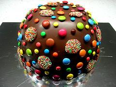 Pinata Birthday Cake (WheresBeckybean) Tags: birthday colour cake baking rainbow chocolate birthdaycake pinata pinatacake