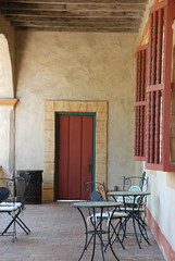 Spanish Door (yennyrusli) Tags: california door church santabarbara museum veranda spanish verandah oldmission baranda