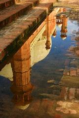 How This Was Built Upside Down ? :) (Amir Mukhtar Mughal | www.amirmukhtar.com) Tags: old pakistan reflection building history water architecture stairs canon minaret steps mosque tiles amir historical lahore badshahimosque mughal mughals mughalarchitecture amirmukhtar