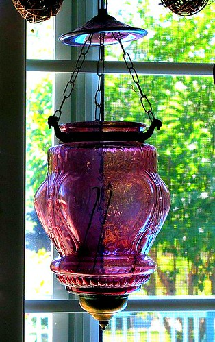 Pink Hurricane Lamp