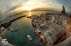 Corniche Kennedy (A.G. Photographe) Tags: sunset sea sun mer france reflection water french marseille eau reflet corniche franais hdr anto couchdesoleil xiii 1raw d700 16mmnikonfisheye