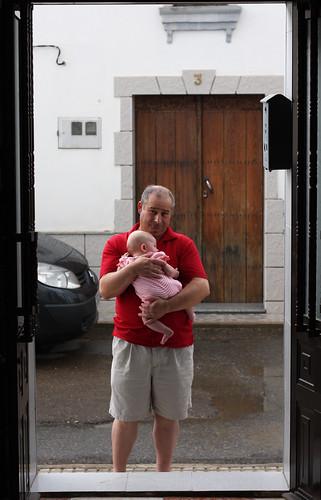 It's wet outside, Grandpa!