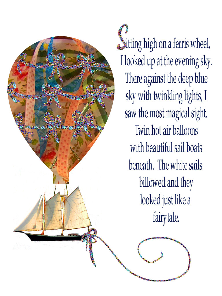 Hot-Air-Balloon,-ribbons-and-sailboats
