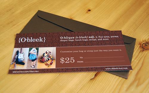 Obleek Gift Certificate
