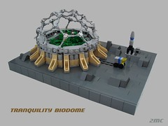 Tranquility Biodome (2 Much Caffeine) Tags: lego space micro moonbase biodome moc ironbuilder