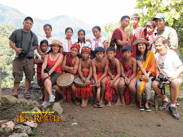 The group with the Ifugao Kids