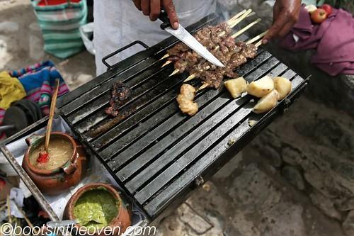 Cooking Anticuchos