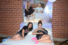 Isabella Rae and Jennessa Rose laying back on the icomfort!