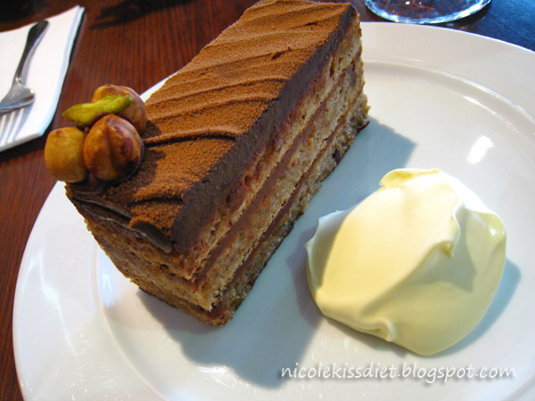 lindt chocolate hazelnut gateau cake with cream
