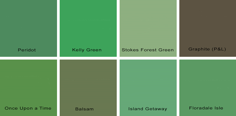 sanders green paint palette