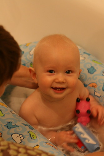 Joshua in the bath