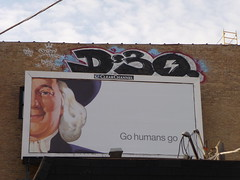 (theres no way home) Tags: chicago man hat wall graffiti billboard piece oats d30 2009 quaker dirtythirty gohumansgo