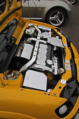 Chromed Peugeot 106 engine bits (exfordy) Tags: chromed peugeot106 exfordy enginebits goodwoodbreakfastclubmarch2009 minimayhemforallsmallsportingrunabouts