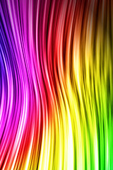 Rainbow Color Waves iPhone Wallpaper