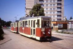 Elblg Tramwaj , Aug 1990. Konstal N1 Tram 012. (sludgegulper) Tags: linie tram poland polska polen 012 n1 strassenbahn tramwaj elblag elblg elbing marymoncka