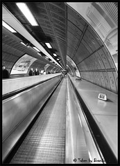 Half a Loooooooo (Mix Master B) Tags: bw london perspective tunnel ef2470mmf28lusm centralline waterloostation brandonswartz canon5dmkii mixmasterb unusualviewsperspectives