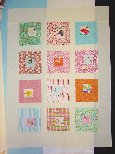 Girl Blocks quilt top
