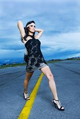 Greice Leite (Ale Machado) Tags: brazil woman sexy beauty fashion brasil female airport model glamour dress mulher models moda aeroporto brazilian vestido