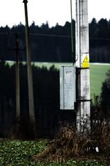 Afternoon (Gregor  Samsa) Tags: winter object pylon silence electricity melancholy item
