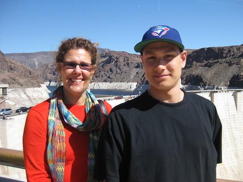 Bev Moir and James Fukuhara at the Hoover Dam