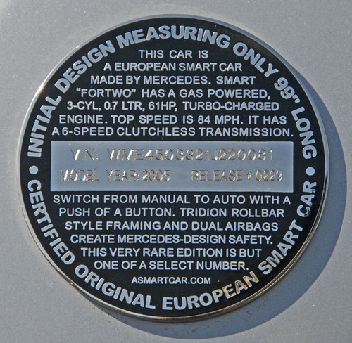 Smart Car medallion