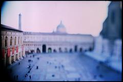 (drvmmmer) Tags: city italy film spring postcard 28mm bologna piazzamaggiore diafilm tiltshift