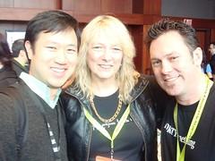 Peter Kim, Liz Strauss, Aaron Strout